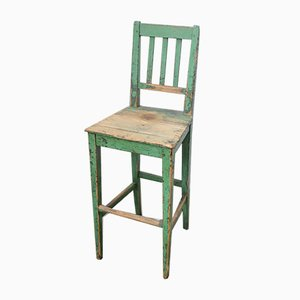 Vintage Wooden Factory Chair
