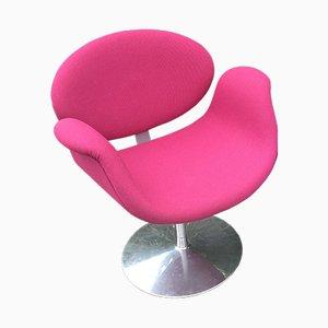 Silla Tulip pequeña en rosa de Pierre Paulin para Artifort, años 70