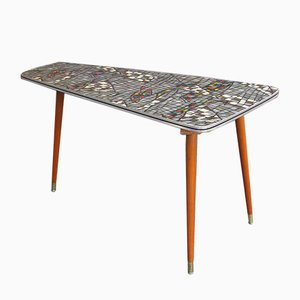 Vintage Mosaic Kidney Shaped Coffee Table, 1960s