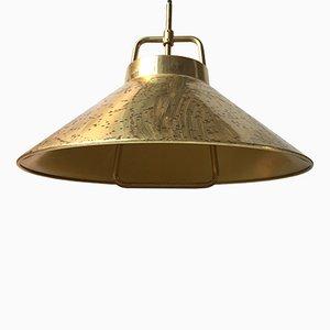 Lámpara colgante P 295 danesa ajustable de latón de Frits Schlegel para Lyfa, años 60