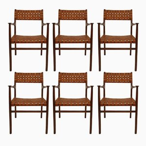American Chairs by Jens Risom, 1950s, Set of 8