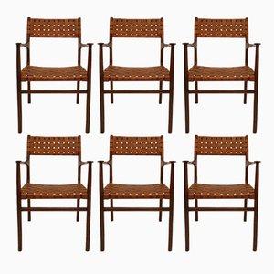Amerikanische Stühle von Jens Risom, 1950er, 8er Set