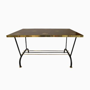 Mesa de centro vintage en negro y dorado