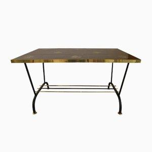 Tavolino da caffè vintage nero e color oro