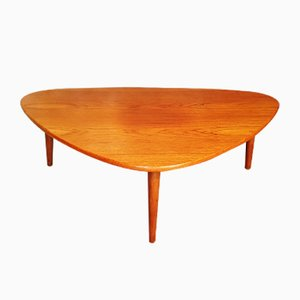Danish Vintage Teak 3-Legged Coffee Table