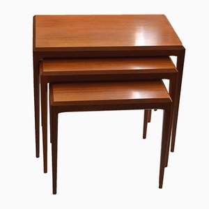 Mid-Century Danish Teak Nesting Tables by Johannes Andersen for CFC Silkeborg
