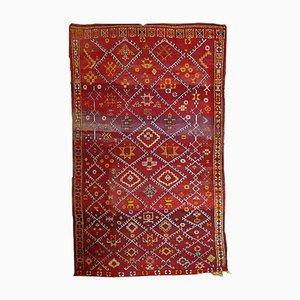 Alfombra bereber marroquina antigua hecha a mano, años 10