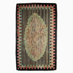 Tapis Antique Fait à la Main en Crochet, Etats-Unis, 1880s