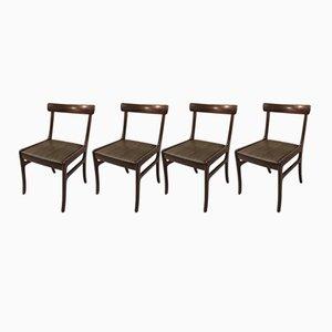 Rungstedlund Stühle von Ole Wanscher für Poul Jeppesens Møbelfabrik, 1960er, 4er Set