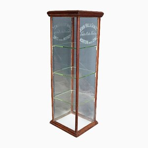 Antique English Shop Cake Display Cabinet