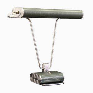 Green Chrome Art Deco Desk Lamp by Eileen Gray for Jumo