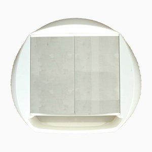 Armadietto da bagno con specchio di Pierre Paulin per Allibert, anni '70