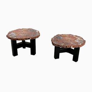 Vintage Side Tables by Ado Chale, Set of 2