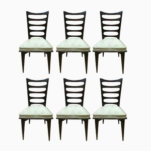 Mid-Century Dining Chairs by Gaston Poisson, Set of 6
