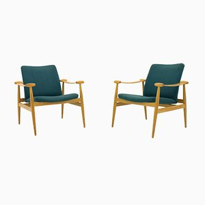 FD 133 Spade Chairs by Finn Juhl for France & Søn, 1960s, Set of 2
