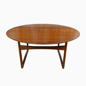 Tavolino da caffè in teak di Hvidt & Mølgaard per France & Søn, anni '50
