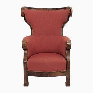 Chaise à Oreille Biedermeier Viennoise, 1820s