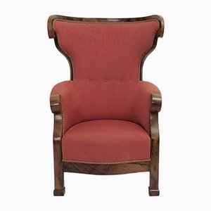 Viennese Biedermeier Wingback Chair, 1820s