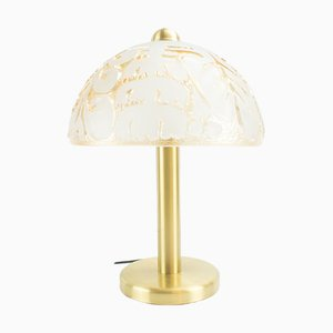 Glass & Brass Table Lamp from Peill & Putzler, 1960s