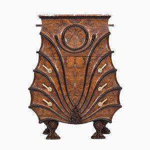 Mueble vintage de nogal y madera ennegrecida