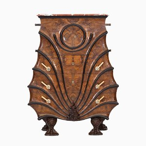 Vintage Walnut and Ebonised Wood Cabinet