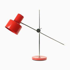 Lampe de Bureau Rouge Tchécoslovaque par Jan Suchan pour Elektrosvit, 1967