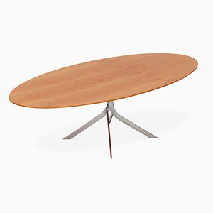 Danish Mid-Century Modern Oval Coffee Table