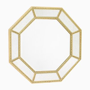 Espejo octogonal facetado, años 60