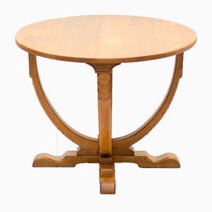 Table d'Appoint Art Déco Vintage en Chêne, Royaume-Uni