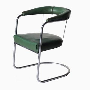 Vintage SP4 Modernist Chrome Desk Chair from PEL, 1930s
