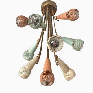 Mid-Century Modern Sputnik Atomic Ceiling Lamp, 1950s