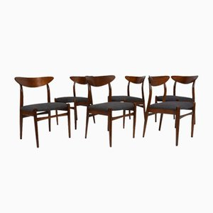 Danish Dining Chairs, 1960s, Set of 6