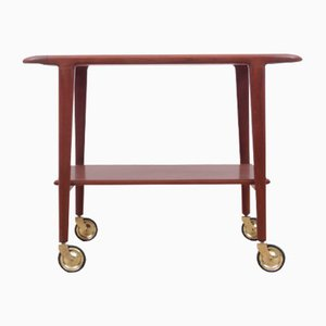 Mid-Century Scandinavian Teak Trolley by N. O. Møller for J.L. Møllers, 1959
