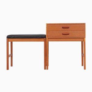 Mid-Century Modern Scandinavian Hall Furniture in Teak, 1960s, Set of 2