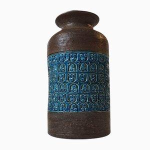 Vase Mid-Century en Grès par Aldo Londi pour Bitossi, Italie, 1960s