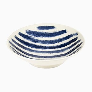 Medium Indigo Rain Serving Bowl by Faye Toogood