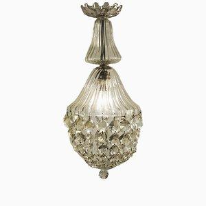 Lámpara colgante en forma de campana de vidrio, década de 1900