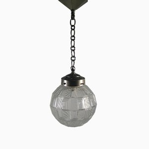 Art Deco Geometric Glass Ball Hanging Lamp