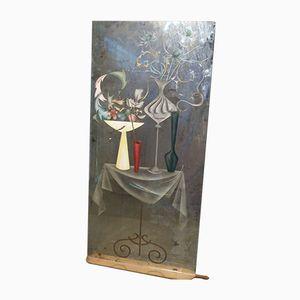 Spiegel mit Geschnitztem Rahmen aus 20. Jhdt.
