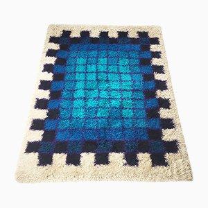 Danish Pop Art Wool Rya Rug by Hojer Eksport Wilton, 1970s