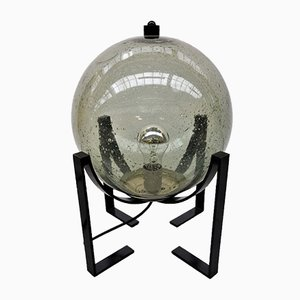 Lampada vintage con sfera in vetro