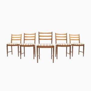 Set de Chaises de Salon Vintage en Teck de Asko, 1960s, Set de 5