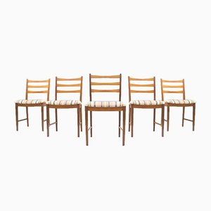 Vintage Teak Dining Chairs from Asko, 1960s, Set of 5