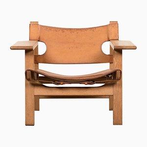 Vintage Spanish Armlehnstuhl von Børge Mogensen für Fredericia Stolefabrik, 1950er
