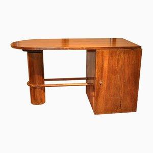 Französischer Vintage Walnuss Schreibtisch