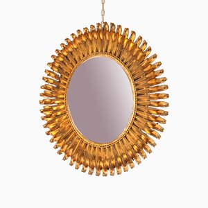 Vintage Gilt Iron Mirror