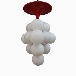 Lámpara de araña Pop Art vintage con esferas de vidrio, años 70