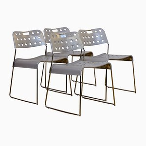 Omstak Chairs by Rodney Kinsman for Bieffeplast, 1970s, Set of 4