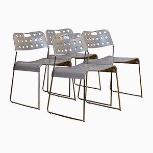 Omstak Stühle von Rodney Kinsman für Bieffeplast, 1970er, 4er Set