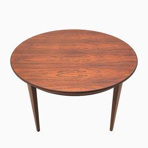Model 55 Rosewood Circular Dining Table from Omann Jun, 1960s